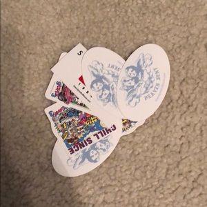 Six Brandy Melville Stickers